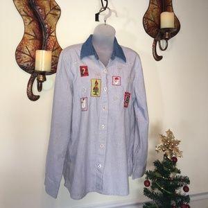 Tops - Fun & Casual Christmas Shirt -Medium